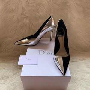 Auth. DIOR Profil Two Tone Suede Leather Pumps